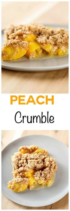 Peach Crumble: Sweet