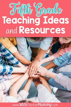 Find all of the 5th grade ideas and resources you need for the school year in one convenient place! Whether you're a teacher or homeschool parent, no matter what your needs are prepping doesn't have to take a ton of time. I've compiled the best engaging low or no prep resources, activities, and ideas for math, science, writing, reading, ELA, social studies, and more. Read to find teaching ideas for fifth grade curriculum, lessons, games, printable worksheets, and more! #wifeteachermommy Elementary Teacher, Upper Elementary, Elementary Schools, Writing Activities, Teaching Resources, Science Writing, Teaching Ideas, Valentines Writing Prompts, Emergency Sub Plans