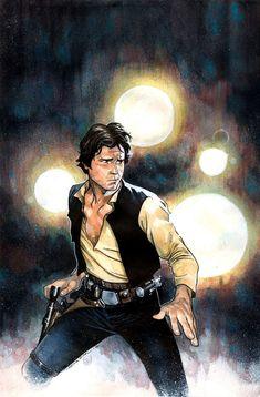 Marvel's Star Wars: Han Solo by Marjorie Liu and Mark Brooks. Star Wars Icons, Star Wars Poster, Star Wars Comics, Bd Comics, Star Wars Fan Art, Star Trek, Comic Books Art, Comic Art, Book Art