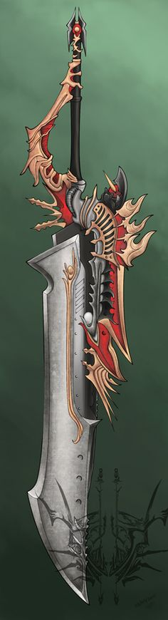 adedrizils-shrine: Knightly Great Sword by Manga-doll Anime Weapons, Sci Fi Weapons, Weapon Concept Art, Weapons Guns, Fantasy Sword, Fantasy Weapons, Fantasy Warrior, Fantasy Art, Swords And Daggers