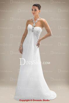 Festival Column Wedding Gown in Beaded Applique Detail