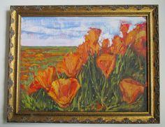 Kevin Yuen California Impressionism Poppy Flower Field Landscape Oil Painting   eBay