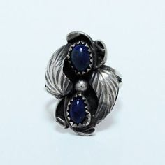 Lot # 53: Vintage American Indian Lapis Sterling Silver Ring.  *NO RESERVE* Gold Rush Pays Auction Rodeo: July 30th at 2pm EST