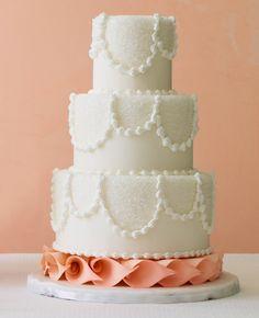 Elegant Sugar Crystal Wedding Cake on a Orchid Base | Betty Baker | blog.theknot.com