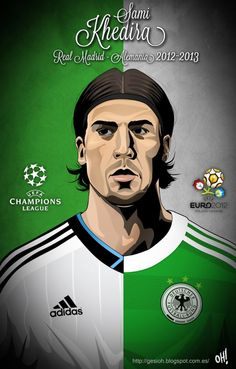 Sami Khedira, Vfb Stuttgart, Real Madrid - Germany. Awesome athletic and represents Germany's new style of playing Fußball!