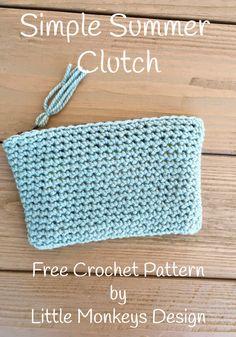 Free crochet pattern - simple summer clutch by Little Monkeys Design