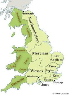 The Heptarchy 7th Century.