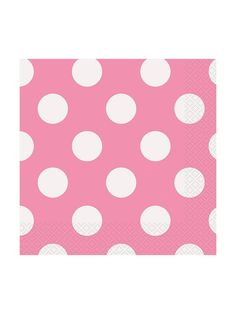 Hot Pink Dots Luncheon Npakins (16 Count) - Party and Birthday supplies at Wholesale prices