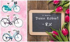 Drodzy Panowie.. niedługo 8 marca - Dzień Kobiet!  Macie okazję się wykazać i sprawić swojej kobiecie prawdziwą radość.. aby ułatwic Wam zadanie przygotowaliśmy specjalną promocję -8% na wszystkie rowery!  Wszystkie Panie zasługują na taki prezent, prezent od serca <3