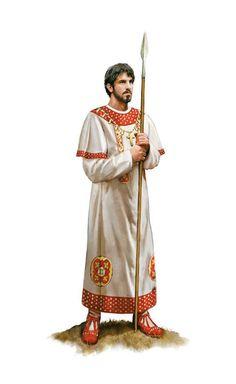 Roman noble commander, late 7th century AD