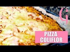 Pizza baja en calorías de coliflor | SIN HARINA - YouTube