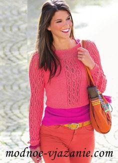 Короткий пуловер реглан