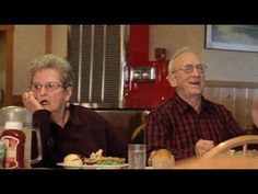 Elderly couple has trouble nailing their six word line during a commercial. HILARIOUS and Adorable!