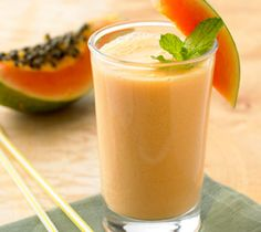 Papaya Smoothies with Citrus and Soy: Get your morning started with this nutritious drink.