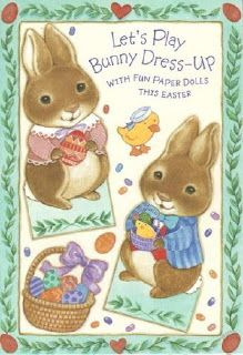 Miss Missy Paper Dolls: Easter bunny card