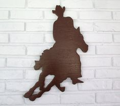 Rustic Cowboy Riding on Horse Sign Wall Decor Wood Cowboy Western Country Wall Art Western Theme, Western Cowboy, Dog Signs, Wall Signs, Country Wall Art, Wood Dog, Nature Decor, Beach Themes, Diys