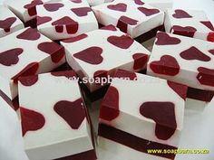 The Soap Barn Free Creative Soaping Book. Chunky heart soap.