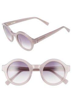 3ee545d9273da Derek Lam  Luna  47mm Round Sunglasses Latest Sunglasses
