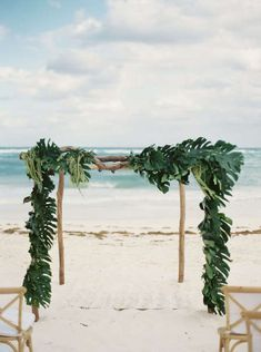 Ceremony backdrop arch from an outdoor beach wedding. Wedding Ceremony Ideas, Beach Wedding Reception, Beach Ceremony, Beach Wedding Decorations, Summer Wedding, Destination Wedding, Wedding Planning, Event Planning, Beach Weddings
