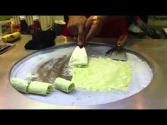 Street food, Ice Cream Rolls, how to make it, Bangkok-Thailand. - YouTube