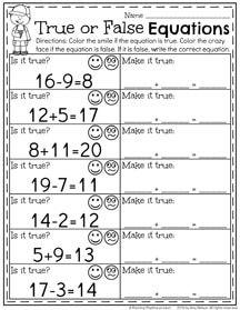 First Grade Summer Worksheets - Planning Playtime Summer Worksheets, First Grade Math Worksheets, First Grade Activities, Addition Activities, Subtraction Activities, Math Activities, Simple Math, Kids Learning, Homeschool