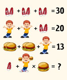 10 Tricky Riddles That Will Make Your Brain Strain Math Puzzles Brain Teasers, Math Logic Puzzles, Brain Teasers Riddles, Brain Teasers With Answers, Number Puzzles, Shape Puzzles, Fun Math, Math Games, Iq Puzzle