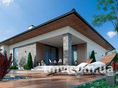 TMV 49 | TMV - Дома для Всех, Проекты домов и проекты коттеджей - купить и заказать проект Киев Украина Best Living Room Design, Living Room Designs, Minimalist Garden, House Plans, Exterior, House Design, Patio, Outdoor Decor, Log Projects
