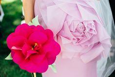 Paper peony, alternative bouquet, fuchsia pink // Ash Meier