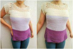 free crochet pattern - the magic loop - shirt / blouse - simply cute blouse