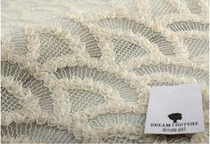 tissu Ivoire rosette brodé de dentelle tissu dentelle par LaceFun
