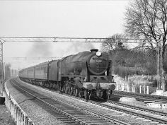 "46125 CARABINIER"" Royal Scot Class just north of Watford Tunnel with a Euston bound passenger train April 1963 Steam Railway, British Rail, Watford, Steam Engine, Steam Locomotive, Diesel Engine, London, Young Lad, Trains"