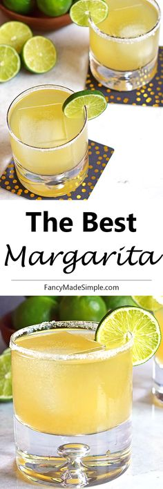 The best margarita recipe.  This light and refreshing drink is perfect for a hot…