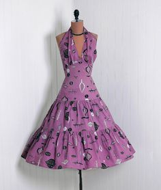 Dress, 1950s, via Timeless Vixen Vintage