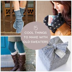Great blanket idea from Yellow Suitcase blog. 15 Cool Things to Make with Old Sweaters