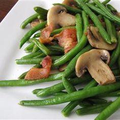 Mushroom and Bacon Green Beans Allrecipes.com