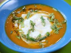 Ginger Soy Carrot Soup from CookingChannelTV.com