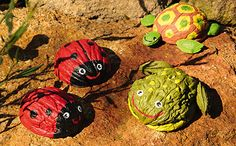 nutshell animals for kids #nutshell #kids #craft #ladybug #turtle #frog  állatok dióhéjból (dió, dióhéj, teknős, béka, katica)
