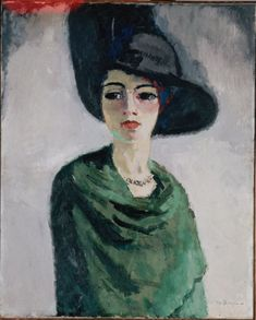 Woman in a Black Hat by Kees van Dongen
