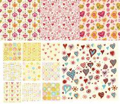 heart background vector cute pursuit