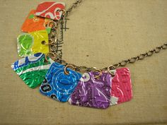 embossed soda can necklace
