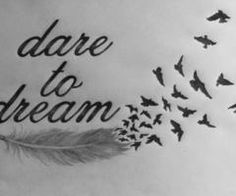 i think the feather with the birds flying would be a neat tattoo; however, i wouldn't use the wording.