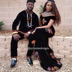 Another beautiful Cameroon bride and groom in toghu at their traditional wedding African Outfits, African Attire, African Wear, African Fashion Dresses, Traditional Wedding Attire, African Traditional Wedding, African Wedding Dress, African Weddings, Traditional African Clothing