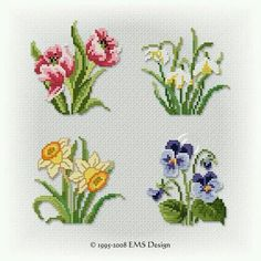 """Kircicekleri """"Discover thousands of images about Set \""""Spring Studies\"""" motifs)"""", """"This post was discovered by Neş"""" Cross Stitch Kitchen, Mini Cross Stitch, Cross Stitch Borders, Cross Stitch Rose, Cross Stitch Flowers, Cross Stitch Charts, Cross Stitch Designs, Cross Stitching, Cross Stitch Embroidery"""