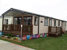 Fensys decking materials used to build Swift integral deck holiday home bordeux escape and match side platform steps Plastic Fencing, Decking Suppliers, Caravan Holiday, Decking Material, Led Manufacturers, Park Homes, Caravans, Future House, Swift