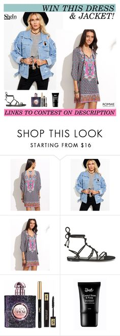 """""""WIN THIS DRESS & DENIM JACKET!"""" by paradiselemonade ❤ liked on Polyvore featuring Rebecca Minkoff and Yves Saint Laurent"""