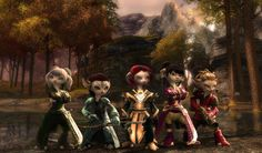 Guild Wars 2: My Asura Chars  by ~MADt2  Fan Art / Wallpaper / Games©2012 ~MADt2  Here my 5 Asura chars :    (Left to right)  Necro, Ranger, Ele (Main char), Mesmer, Engineer