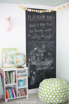giant DIY chalkboard \\ craftiness is not optional