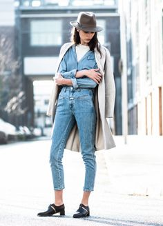 In the 1990s denim was a huge success. High waited denim jeans paired with some type of denim top was highly desired. 3/26/2015