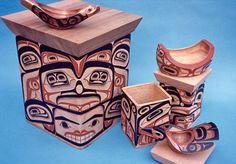 David Boxley, an internationally recognized Northwest Coast Native artist and culture bearer. Arte Haida, Haida Art, Native American Artwork, Woodworking Inspiration, Inuit Art, Tlingit, Bent Wood, Totems, Native Art