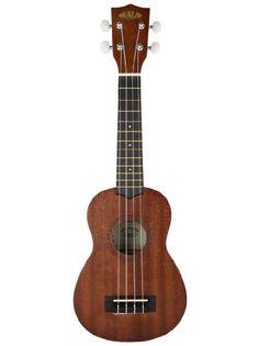 Kala KAA-15S Limited Edition Satin Mahogany Soprano Ukulele with Rosette